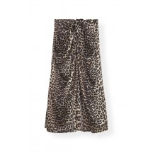 Ganni-Silk-Stretch-Satin-Nederdel-Leopard-F3654