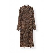 Ganni-printed-georgette-kjole-tiger-F3774