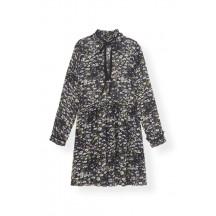 Ganni-printed-georgette-kjole-sort-f3956