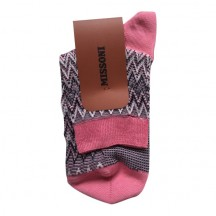 CA00CMD5455 Anekl Socks, White/Black/Pink
