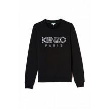 kenzo-sweatshirt-paris-logo-overdel-sort-f952
