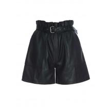 Raiine-floyd-læder-shorts-sort