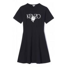 kenzo-kjole-logo-rose-sort-f952ro874987