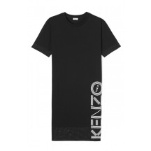 Kenzo-sort-kjole-logo-FA52RO746986