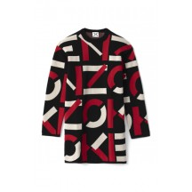 kenzo-monogram-sweater-kjole-rød-FA62RO5313SC