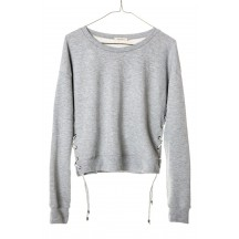 ragdoll-la-lace-up-croppede-sweatshirt-light-grey-melange-overdel-S84