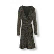 Ganni-tilden-mesh-slå-om-kjole-blomster-T1899