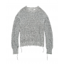 Helmut-lang-distressed-strik-sweater-sort-hvid-I06HW703 -1 style=