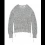 Helmut-lang-distressed-strik-sweater-sort-hvid-I06HW703 -1 style=