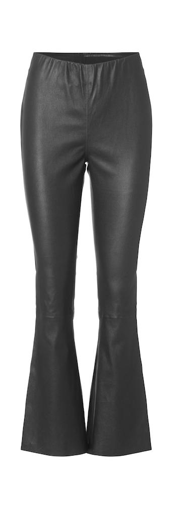 Munderingskompagniet, MDK, Flare Skind Bukser - Seje sorte skindbukser med vidde i buksebenet og ...