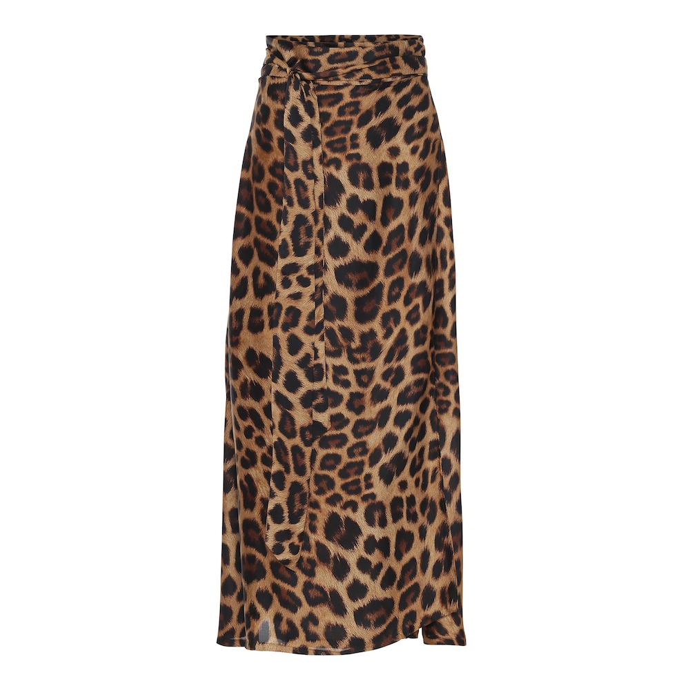 Karmamia Copenhagen, Leopard Wrap Skirt. Smuk slå-om ...