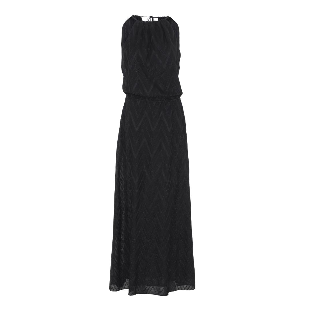 e1d87387 M Missoni, Lang Kjole m/glimmer, Sort. Smuk ærmeløs lang sort kjole ...